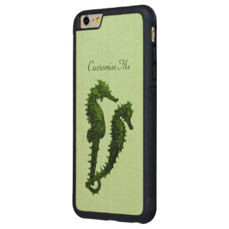 Dance Of The Seahorses (Green) Carved® Maple iPhone 6 Plus Bumper Case