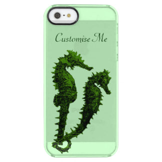 Dance Of The Seahorses (Green) Clear iPhone SE/5/5s Case