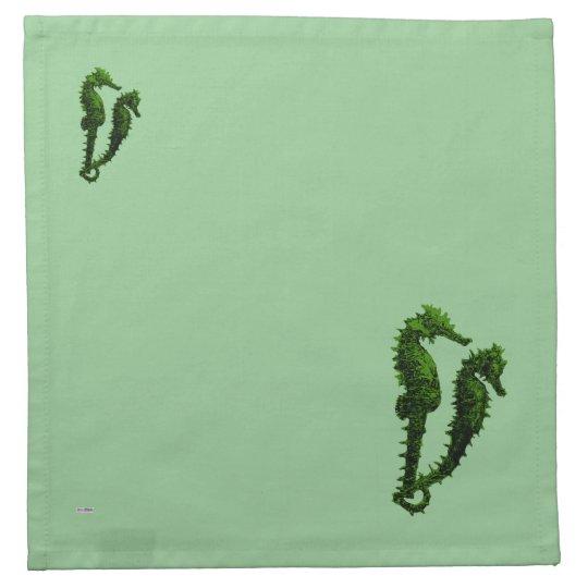 Dance Of The Seahorses (Green) Cloth Napkin