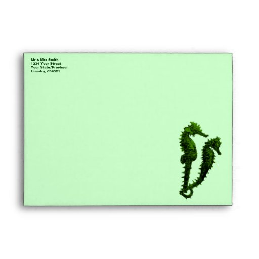 Dance Of The Seahorses (Green) Envelopes
