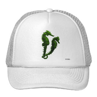 Dance Of The Seahorses (Green) Trucker Hat