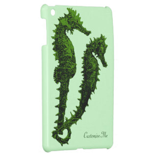 Dance Of The Seahorses (Green) Case For The iPad Mini