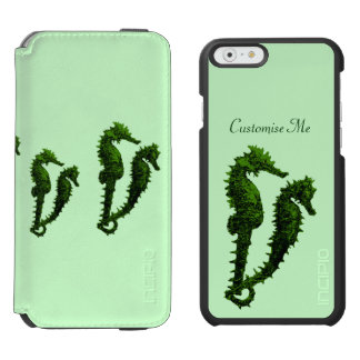 Dance Of The Seahorses (Green) iPhone 6/6s Wallet Case