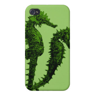 Dance Of The Seahorses Green Covers For iPhone 4
