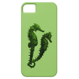 Dance Of The Seahorses (Green) iPhone SE/5/5s Case