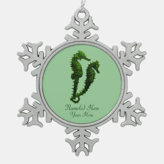 Dance Of The Seahorses Green Ornament