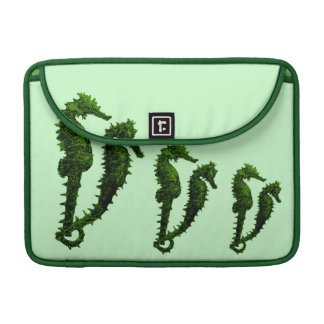 Dance Of The Seahorses (Green) Sleeve For MacBook Pro