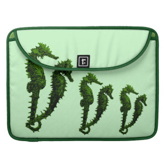 Dance Of The Seahorses (Green) Sleeve For MacBooks