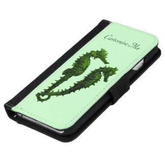 Dance Of The Seahorses (Green) Wallet Phone Case For iPhone 6/6s