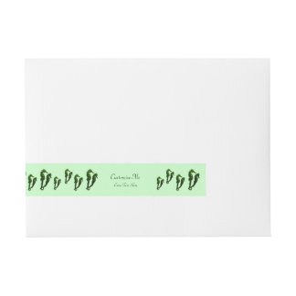 Dance Of The Seahorses (Green) Wrap Around Address Label