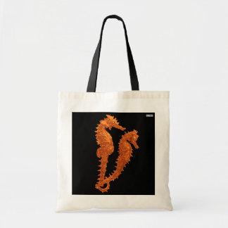 Dance Of The Seahorses (Orange) Canvas Bags