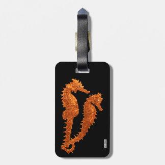 Dance Of The Seahorses (Orange) Bag Tag