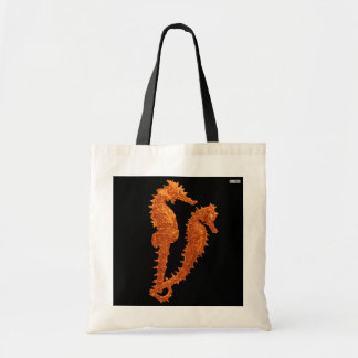 Dance Of The Seahorses (Orange) Budget Tote Bag