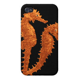 Dance Of The Seahorses Orange Covers For iPhone 4
