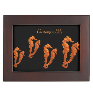 Dance Of The Seahorses (Orange) Keepsake Box