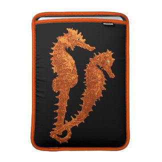 Dance Of The Seahorses (Orange) MacBook Air Sleeve