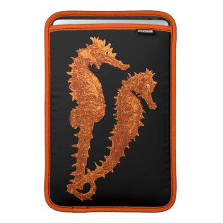Dance Of The Seahorses (Orange) MacBook Sleeve