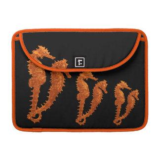 Dance Of The Seahorses (Orange) Sleeve For MacBook Pro