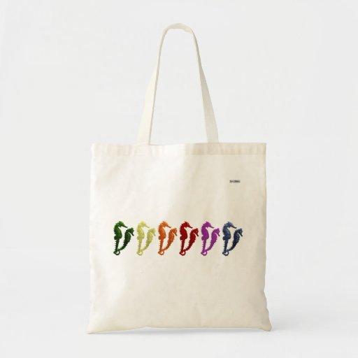 Dance Of The Seahorses Pop Art 2 Budget Tote Bag