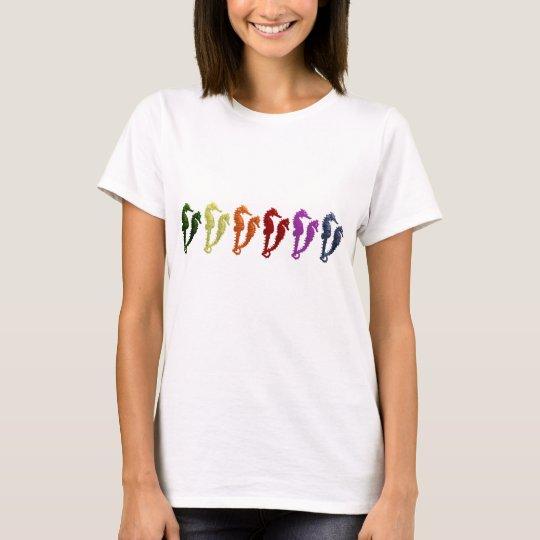 Dance Of The Seahorses Pop Art 2 T-Shirt