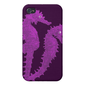 Dance Of The Seahorses Purple iPhone 4 Case