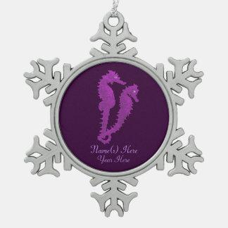 Dance Of The Seahorses Purple Ornaments