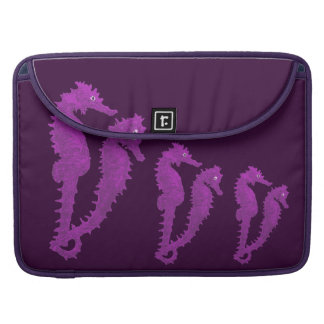 Dance Of The Seahorses (Purple) Sleeve For MacBook Pro