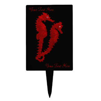 Dance Of The Seahorses (Red) Cake Topper