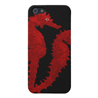 Dance Of The Seahorses (Red) Case For iPhone SE/5/5s