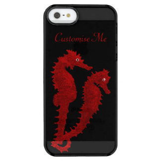 Dance Of The Seahorses (Red) Clear iPhone SE/5/5s Case