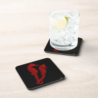 Dance Of The Seahorses (Red) Coasters