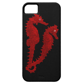 Dance Of The Seahorses (Red) iPhone SE/5/5s Case