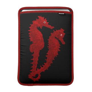 Dance Of The Seahorses (Red) MacBook Air Sleeve