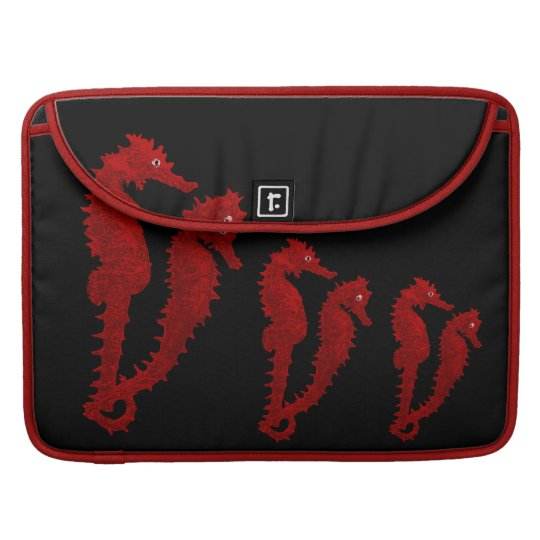 Dance Of The Seahorses (Red) Sleeve For MacBooks