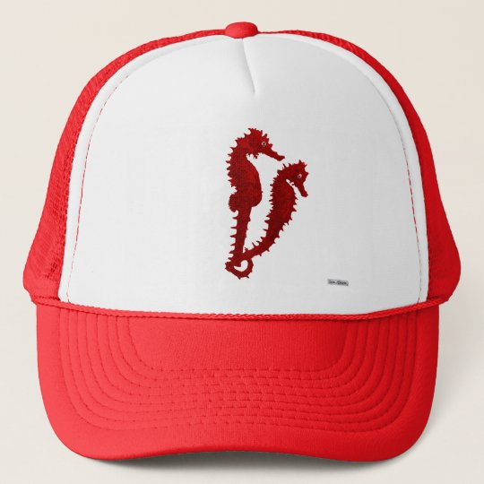 Dance Of The Seahorses (Red) Trucker Hat
