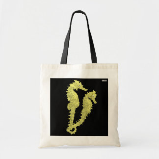 Dance Of The Seahorses (Yellow) Budget Tote Bag