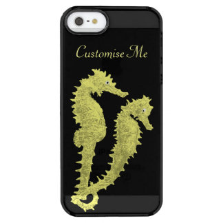 Dance Of The Seahorses (Yellow) Clear iPhone SE/5/5s Case