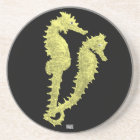 Dance Of The Seahorses (Yellow) Coaster
