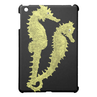 Dance Of The Seahorses (Yellow) iPad Mini Cover