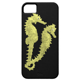 Dance Of The Seahorses (Yellow) iPhone SE/5/5s Case