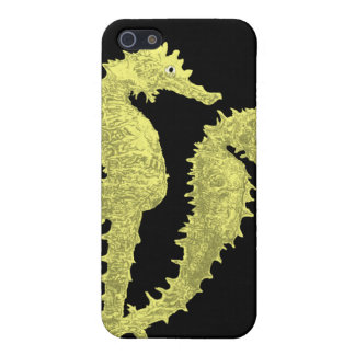 Dance Of The Seahorses (Yellow) iPhone SE/5/5s Cover