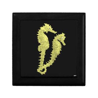 Dance Of The Seahorses (Yellow) Keepsake Box