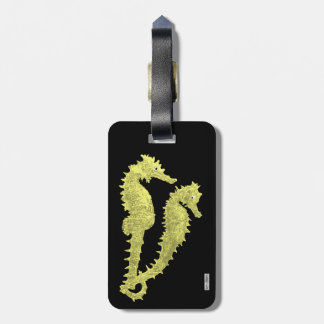 Dance Of The Seahorses (Yellow) Luggage Tag