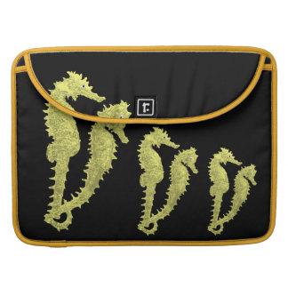Dance Of The Seahorses (Yellow) MacBook Pro Sleeve