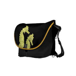 Dance Of The Seahorses (Yellow) Messenger Bag