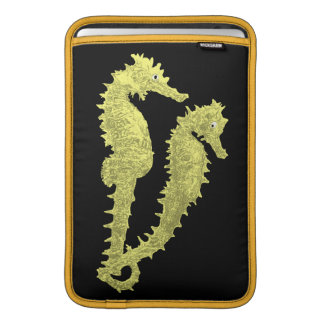 Dance Of The Seahorses (Yellow) Sleeve For MacBook Air