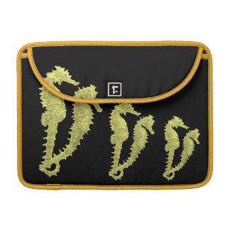 Dance Of The Seahorses (Yellow) Sleeve For MacBook Pro
