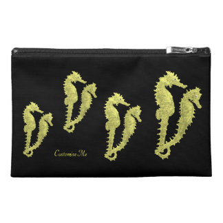 Dance Of The Seahorses (Yellow) Travel Accessory Bag