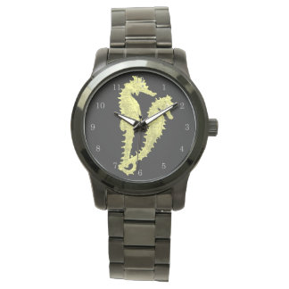 Dance Of The Seahorses (Yellow) Wrist Watch