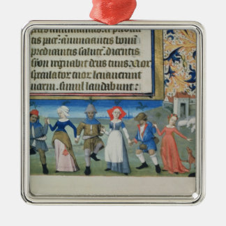 Dance of the shepherds metal ornament